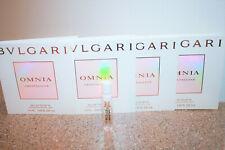 4 x BVLGARI Omnia Crystalline Eau de Toilette 0.05 oz each sample = 0.20 perfume