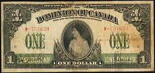 Princess Patricia banknote, $1 Dominion Of Canada 1917 Very Fine
