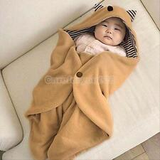 Cotton Baby Newborn Warm Blanket Swaddle Sleeping Bag Sleepsack Stroller Wrap