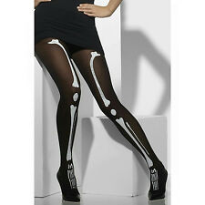 Fever Women's Opaque Tights with Skeleton Print