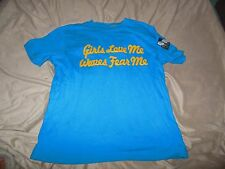 """Boy's Gap Kids Embroidered T-Shirt~""""GIRLS LOVE ME WAVES FEAR ME""""~Size 10 / Large"""