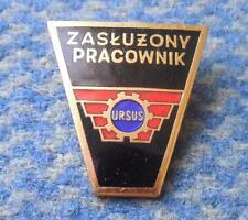 URSUS POLAND TRACTOR MANUFACTURE 1980's MERITORIOUS WORKER BIG RARE PIN BADGE