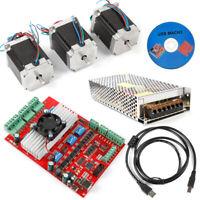 MACH3 CNC 3-Axis Kit TB6600 Stepper Motor Controller+3pc Nema23 Stepper Motor 57