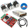 MACH3 CNC 3-Axis Kit TB6600 Stepper Motor Controller+3pc Nema23 Stepper Motor 57
