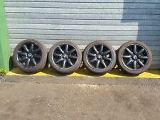 MINI COOPER S 1.6 R53 '03 SET OF BLACK ALLOY WHEELS WITH TYRES 2065/45/17