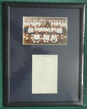 """C1937-38  BOLTON WANDERERS  SIGNED MOUNTED ALBUM PAGE & PHOTO IN 17"""" x 13"""" FRAME"""