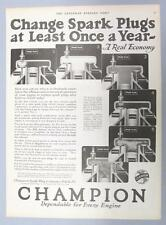 Original 1925 Champion Spark Plug Ad HOW IT WORKS & WHY CHANGE AFTER A YEAR