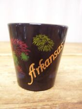 Arkansas Black Ceramic Shot Glass Bar Barware Fireworks
