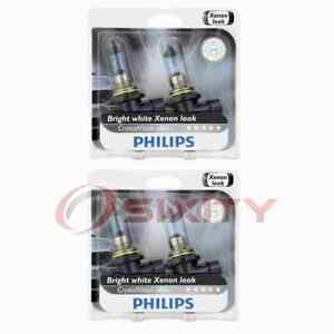 2 pc Philips Low Beam Headlight Bulbs for Audi A6 A6 Quattro S4 S6 V8 nx
