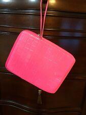 Hot Pink Tablet Case Purse Clutch Wristlet Organizer Bag 7,5 x 10