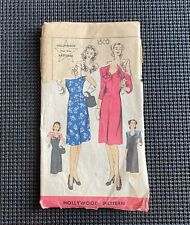 Vintage 1930s Hollywood Four~Star Sewing Pattern ~ Misses Dress ~ Complete