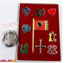 9Pcs Fairy Tail Lucy Heart Celestial Spirit Gate Key Chain Pendant Necklace