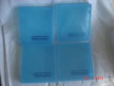 "LOT 4 Vtg. BLUE NINTENDO NES GAME CARTRIDGE BOXES w/  "" NINTENDO "" LETTERING"