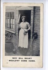 (Sd541-100) Why Bill Bailey Wouldn't Come Home, 1905, Used G-VG