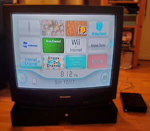 Sharp 27N-S100 27 inch CRT TV S-Video, No remote **Tested working**