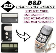 B&D 062170/4333EBD Compatible Remote control replacement, 433,92Mhz. Top Quality