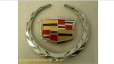 "NEW!! Cadillac 6 INCH GRILLE ""Wreath & Crest"" EMBLEM!!"