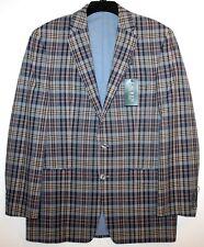 Ralph Lauren Mens Blue Brown Plaid Cotton Blazer Sports Coat NEW $300 Size 40 L
