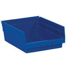 "Box Partners Plastic Shelf Bin Boxes 11 5/8"" x 8 3/8"" x 4"" Blue 20/Case"