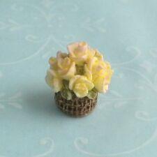 Bonnie Franklin Blush Roses Bouquet - Shabby Cottage Dollhouse Miniature