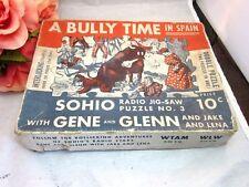 Vtg 1933 Depression Era SOHIO Radio show Jigsaw puzzle. Standard Oil