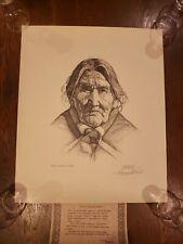 Dan Buffler Brewer Hand Signed NAVAHO BLANKET WOMAN INDIAN COA