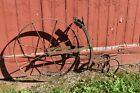 Antique 'Planet Jr-Like' cultivator double 5 tine hoe wheel garden tool