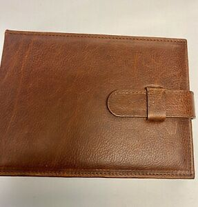 Brown LEATHER & SUEDE wallet style watch holder travel case. 2 watches 6 straps