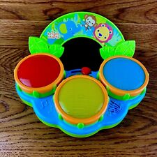 Bright Starts Safari Beats Light Up Drums Musical Baby Toy Colourful Animal Fun