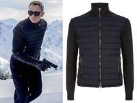 SPECTRE James Bond knitted sleeve bomber jacket - Daniel Craig Bomber Jacket