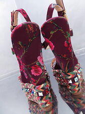 NEU HOHE Luxus Damen Sandalen Pumps Schuhe P29 Sky High Heels Keilabsatz 37
