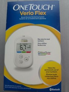 ONE TOUCH VERIO FLEX BLOOD GLUCOSE MONITORING SYSTEM KIT. BRAND NEW.