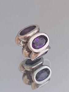Genuine Pandora Charm - Purple Cubic Zirconia Oval Lights   790311ACZ