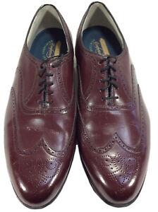 Florsheim Imperial Comfortech Oxford Wingtip Mens Burgundy Leather Shoes Sz 15D