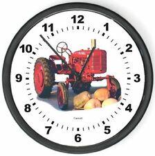 """NewMcCormick Farmall Pumpkin Tractor Wall Clock 10"""" Round"""