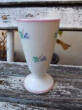 Brûlot tasse mazagran en porcelaine XIXe décor fleurs