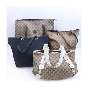Gucci Canvas PVC Hand/Shoulder/Tote Bag 4 pieces set 525723