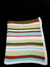 Hooray Cynthia Rowley Multi Colored Knit Striped Security Blanket 100% Cotton