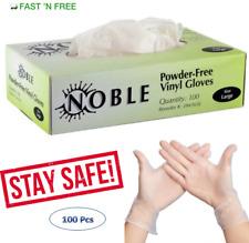 Vinyl Gloves 100 pcs ( Nitrile Free - Powder Free) Large Size 3.5 Mil Thick