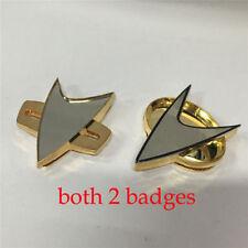Cosplay Star Trek Badge TNG Badge Voyager Communicator Badge Pin Brooch Prop Set