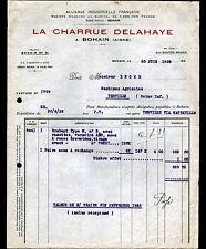 "BOHAIN (02) MACHINES AGRICOLES 'LA CHARRUE DELAHAYE"" en 1928"