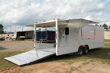 New 85x26 85 X 26 Enclosed Concession Food Vending Bbq Trailer 8 Porch Deck