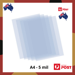 Mylar Stencil Film Sheet 127 micron 5 mil Blank A4 Size in 2,6 or 12 pack