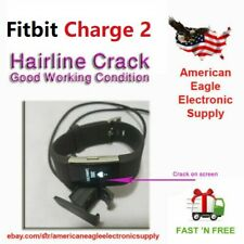 Fitbit Charge 2 HR Heart Rate Monitor Fitness Activity Tracker <Hairline Crack>