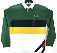 Tommy Hilfiger Multi Color Block Stripe Long Sleeve Rugby Polo Shirt Men