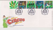 UNADDRESSED CLOWNE PMK GB ROYAL MAIL FDC FIRST DAY COVER 2002 CIRCUS STAMP SET