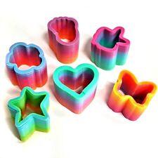 Set of 6 Mini Rainbow Spring Toys - Assorted - Fun Children's Toys Sensory Gifts