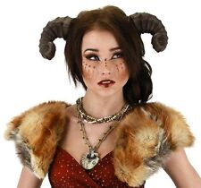 SATYR DRAGON HORNS Costume Headpiece Ram Goat Sheep Pan Faun Greek Mythical Horn