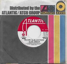 ALICE COOPER  Welcome To My Nightmare  rare promo 45 from 1976