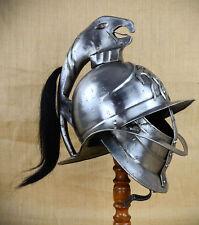 WEARABLE - Gladiator Replica Spartacus 18 Gauge Steel Helmet Horsehair Plume